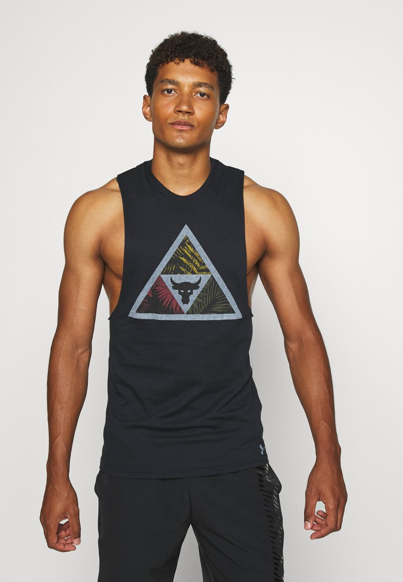 Under Armour - PROJECT ROCK MANA TANK - Top - black/summit white