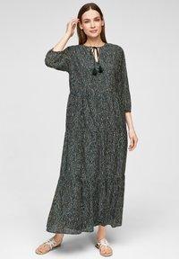 s.Oliver BLACK LABEL - Maxi dress - dark green aop - 0