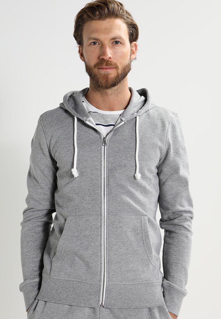 Pier One - Hoodie met rits - grey melange