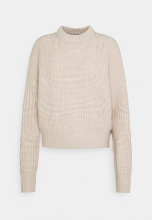 Sweter - gray tan