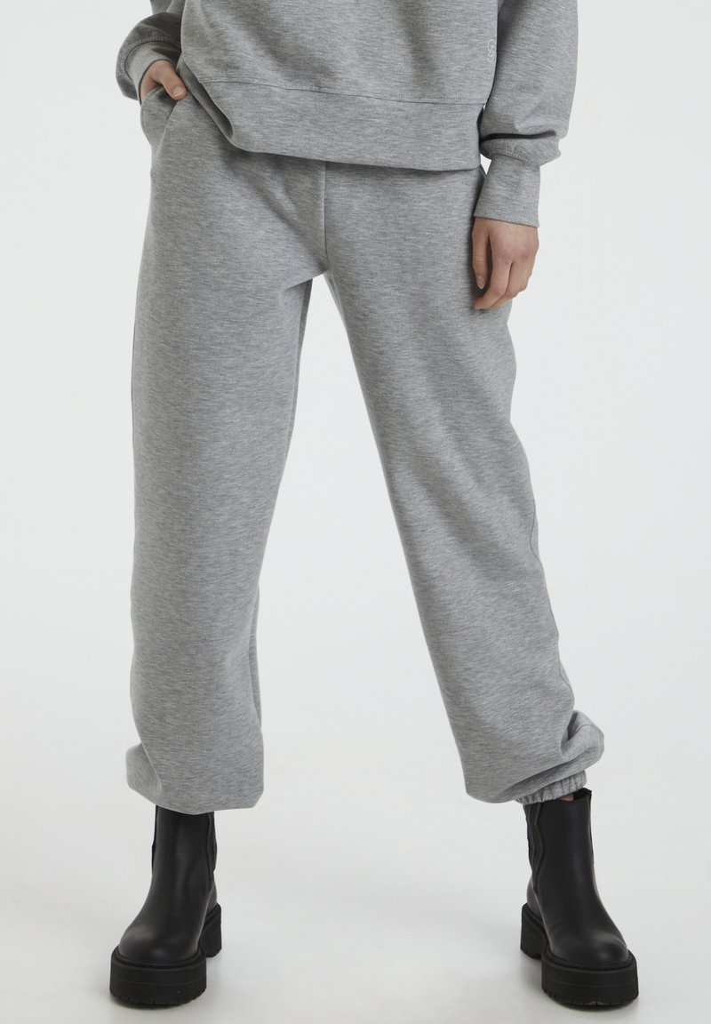 Gestuz - Tracksuit bottoms - light grey melange