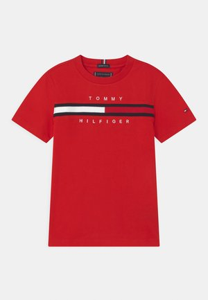 FLAG INSERT - Print T-shirt - deep crimson