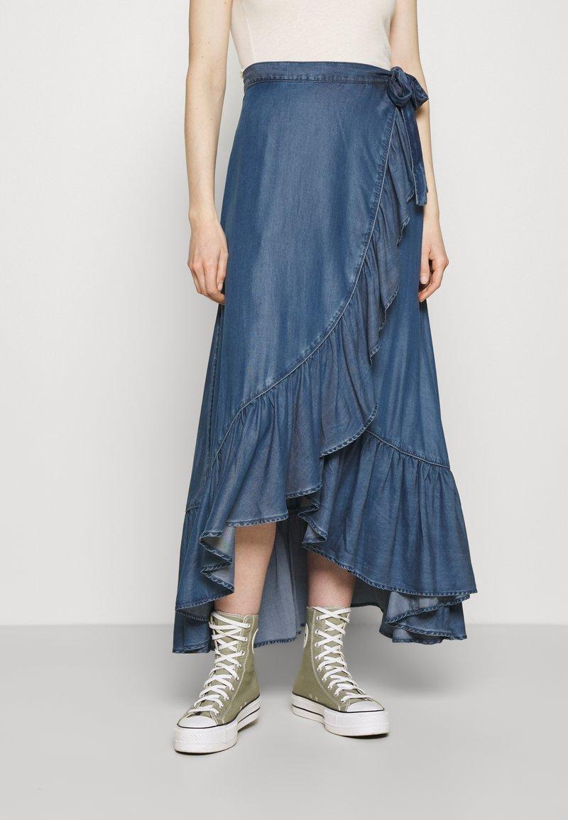 Guess - VERONIKA SKIRT - Wrap skirt - othonna dark