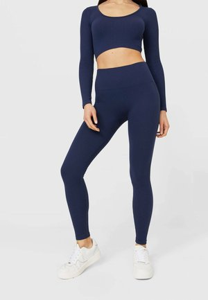 NAHTLOSE - Leggingsit - dark blue