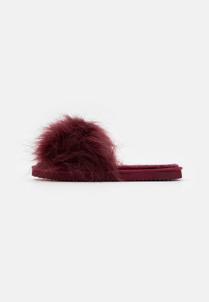 HAIRY POOL - Pantofole - dark berry