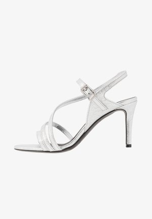MARYLIN METALIC - High heeled sandals - silver