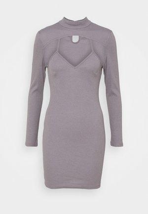CUT OUT DRESS - Day dress - grey