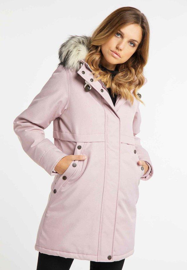 Zimní kabát - rosa melange