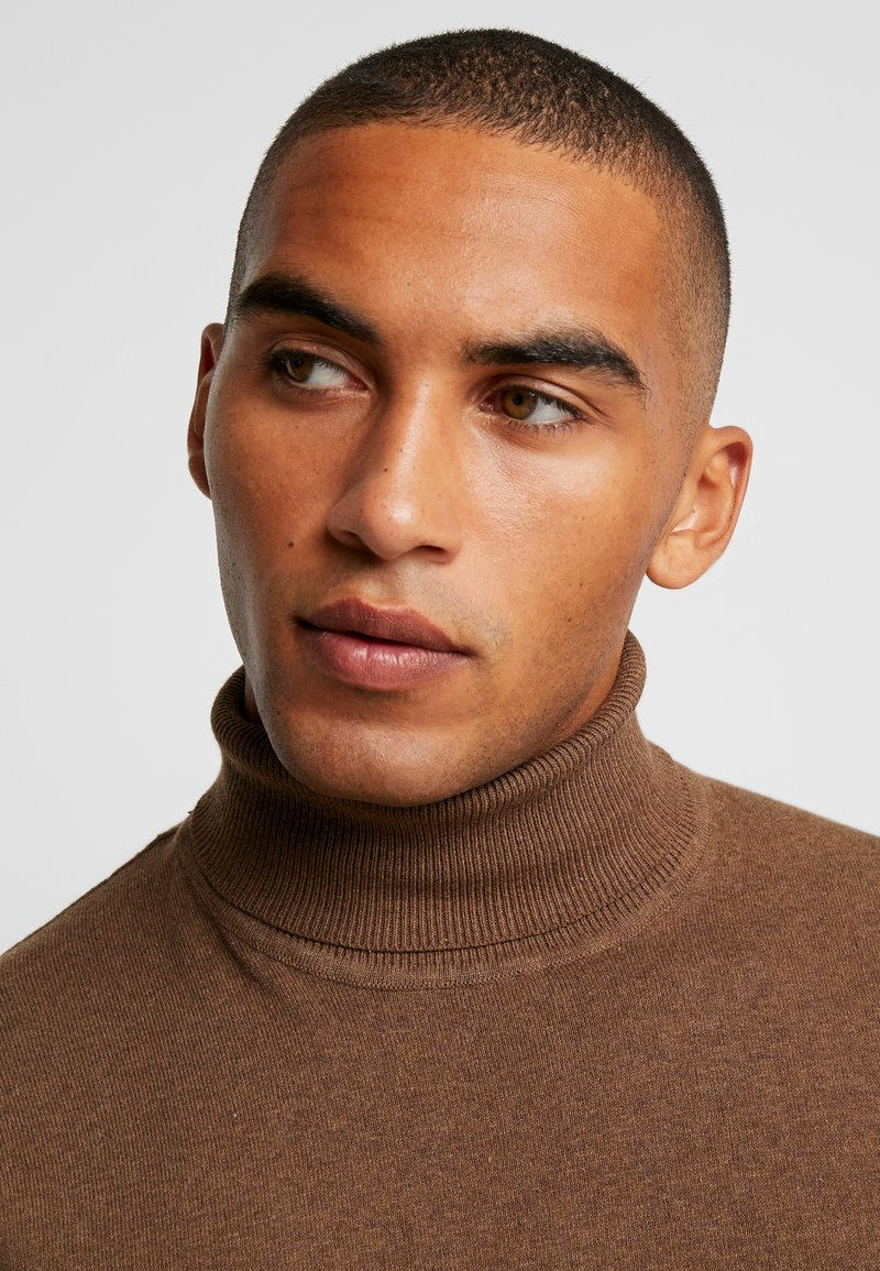 Pier One Strickpullover - mottled brown/braun meliert LVgE2S