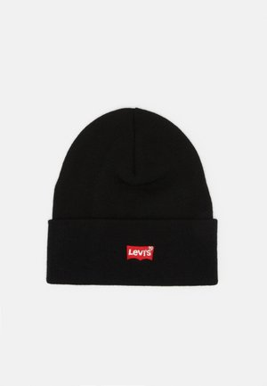 RED BATWING EMBROIDERED SLOUCHY BEANIE - Mössa - regular black