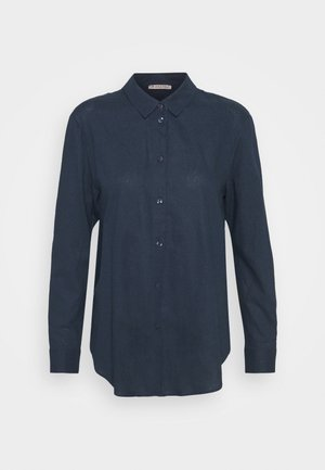 Linen Shirt - Button-down blouse - blue