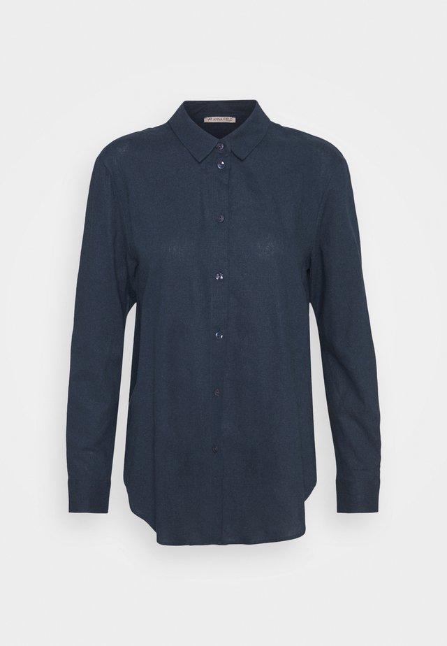 Linen Shirt - Skjorta - blue