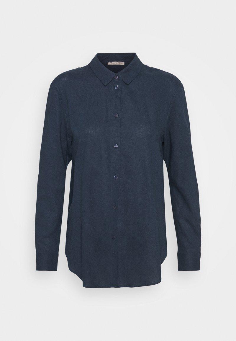 Anna Field - Linen Shirt - Button-down blouse - blue