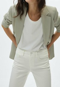 Massimo Dutti - SLIM FIT - Trousers - white - 1
