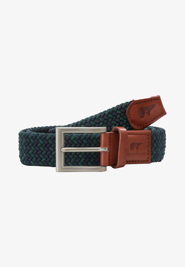 Braided belt - blue, green