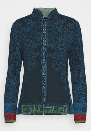 JACKET WITH PLEATS - Cardigan - pacific