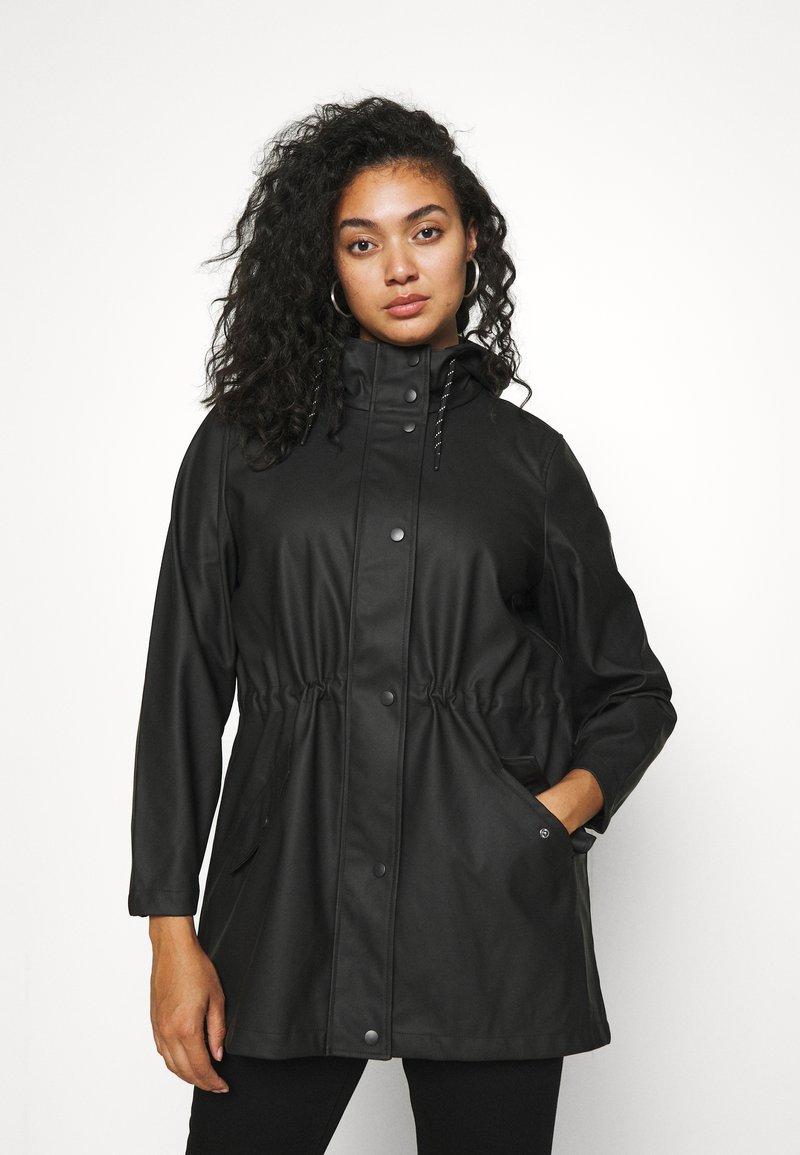 Vero Moda Curve - VMMALOU COATED - Waterproof jacket - black
