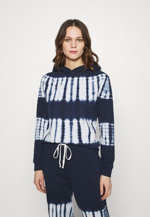 BACK PACK TIE DYE HOODIE RECYCLED SOFT TOUCH - Sweatshirt - bengali indigo