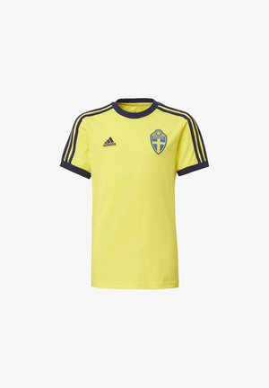 SWEDEN 3-STRIPES  - Camiseta estampada - yellow
