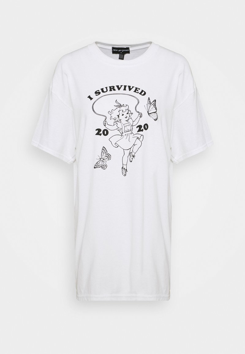 NEW girl ORDER - SURVIVED TEE - T-shirts med print - white