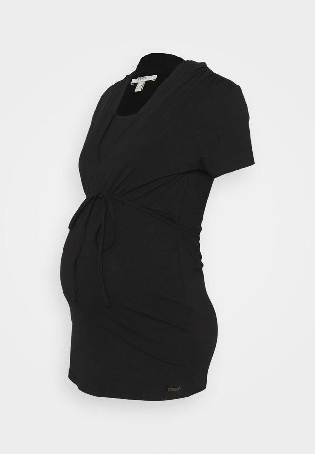 NURSING - Jednoduché triko - black