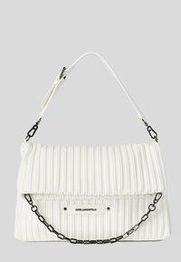 KARL LAGERFELD - KUSHION FOLDED TOTE - Tote bag - white - 0