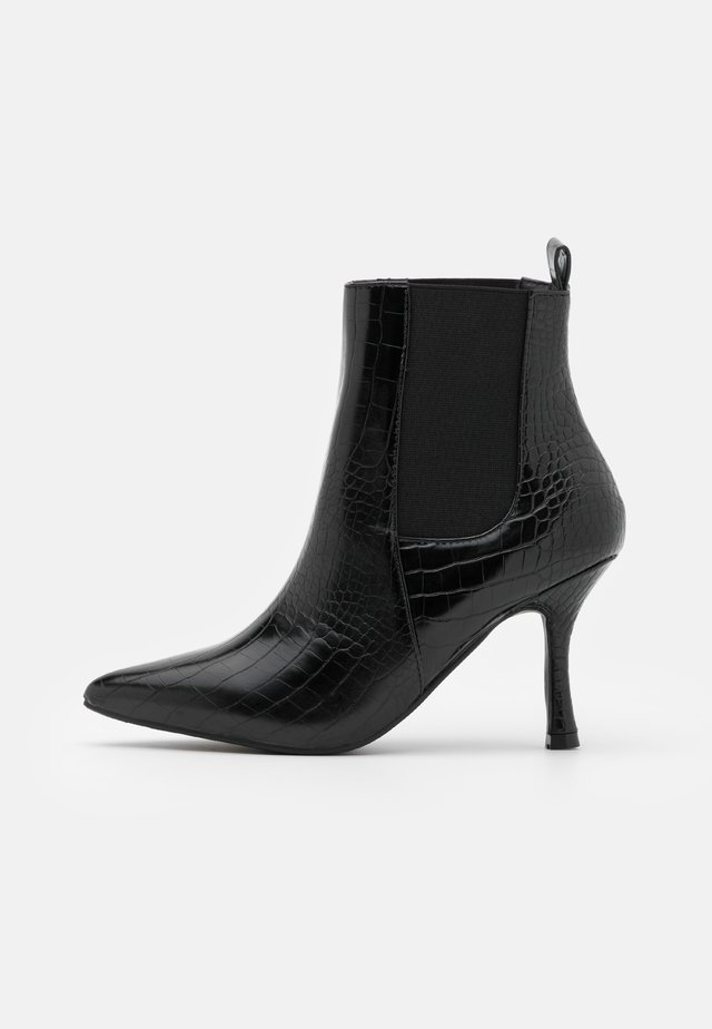 EMELIE - High heeled ankle boots - black
