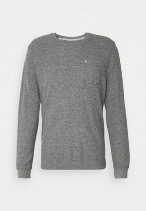 POCKET TEE - Long sleeved top - dark grey heather