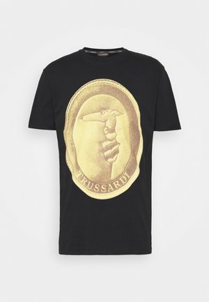 PURE CLOSE FIT - Print T-shirt - black