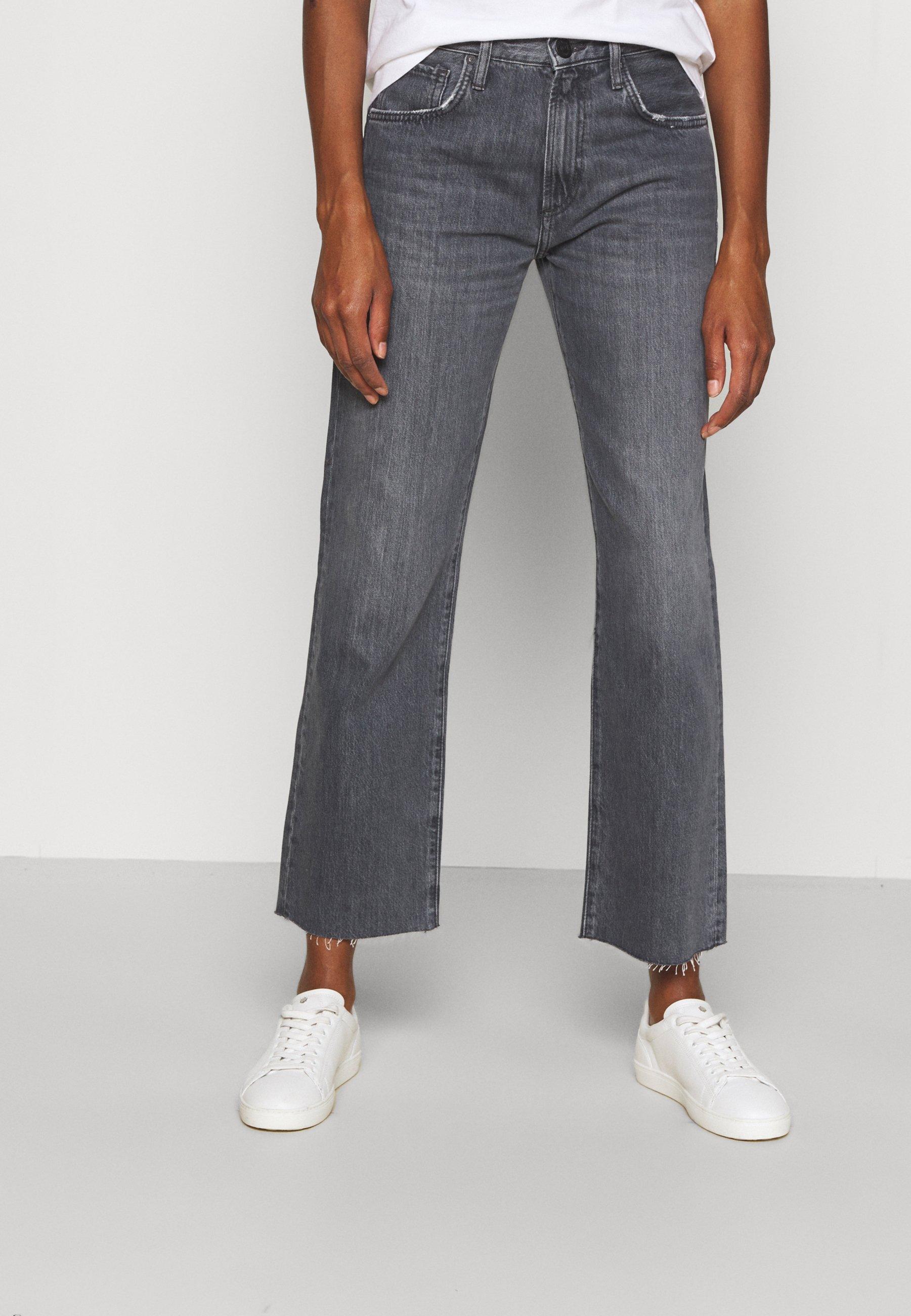 Women RELAX STRAIGHT RAW HEM - Straight leg jeans