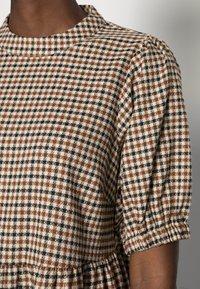 Love Copenhagen - CULLA DRESS - Day dress - brown check - 4