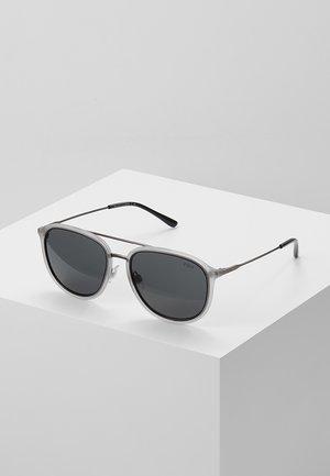 Sunglasses - matte transparent grey/dark gunmetal