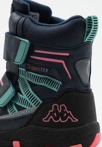 Kappa - TEX UNISEX - Winter boots - navy/pink - 5