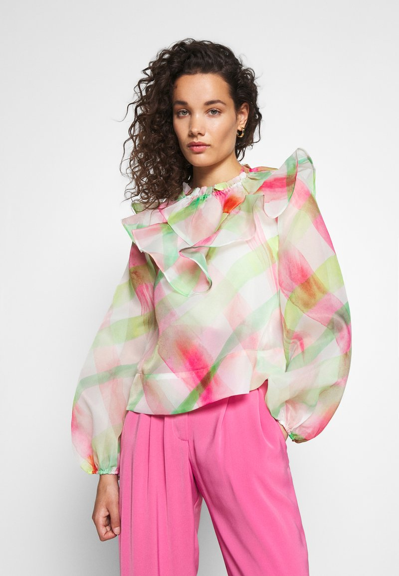 Who What Wear - RUFFLE YOKE - Blouse - indie