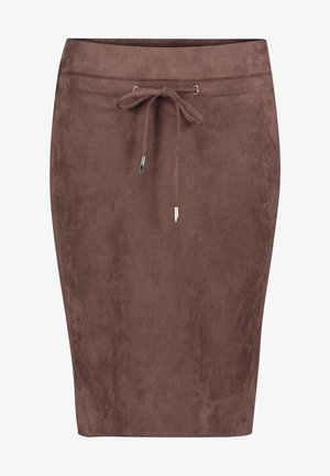 Pencil skirt - dark chocolate