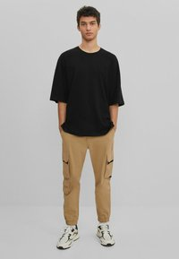 Bershka - T-shirt basic - black - 1