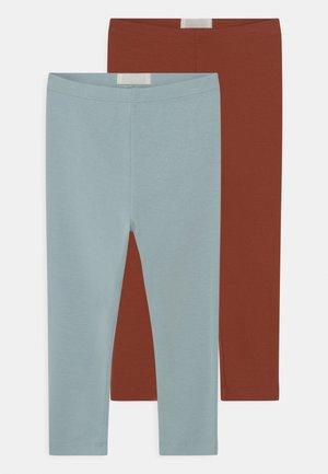 2 PACK UNISEX - Legging - mint/rust