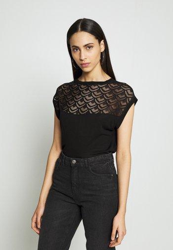 ONLNICOLE MIX - T-shirts - black