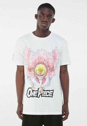 ONE PIECE - T-shirt z nadrukiem - white