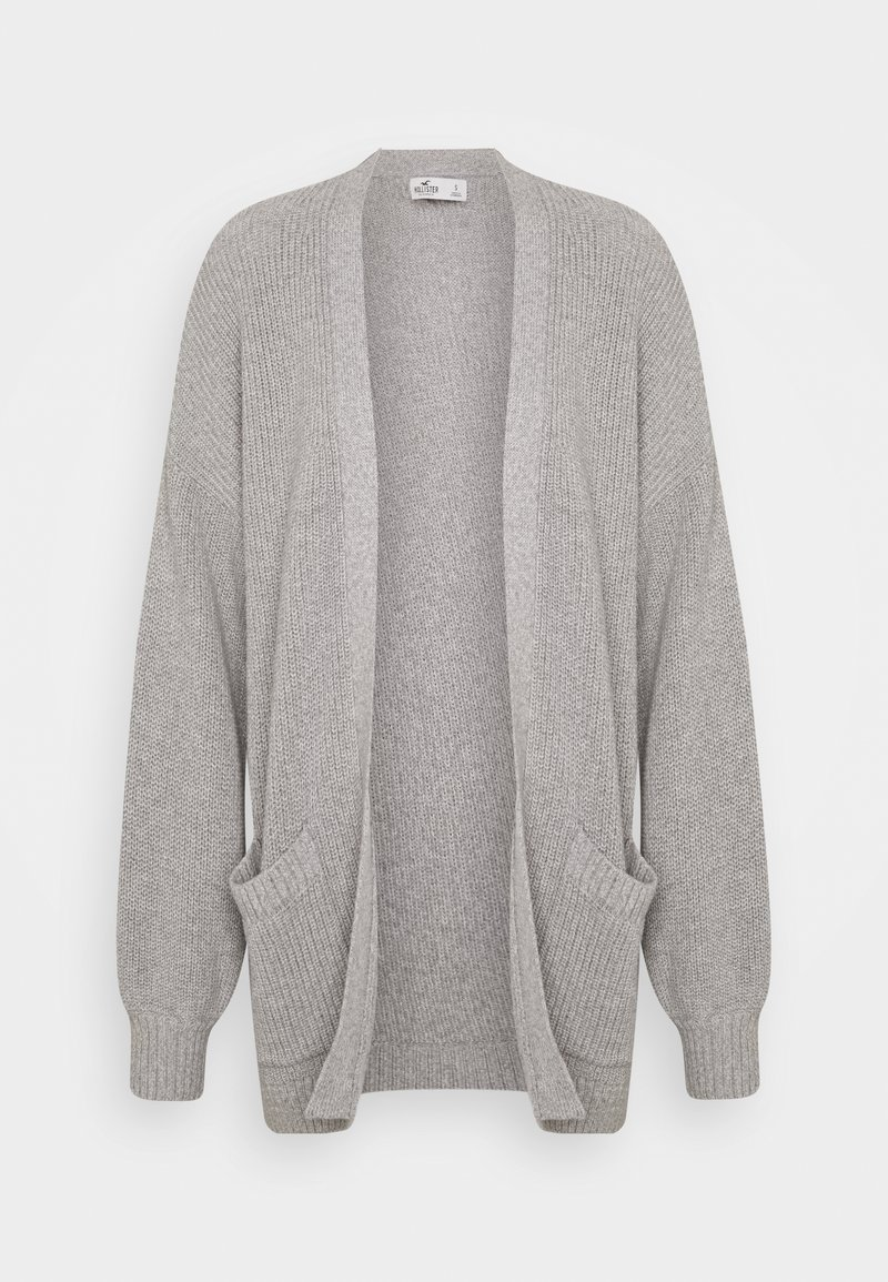 Hollister Co. - LONG LENGTH SHAKER - Cardigan - light grey