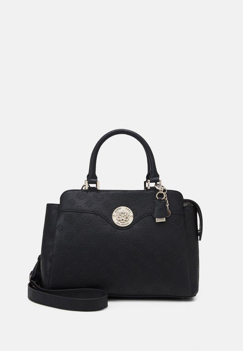 Guess - DAYANE TRIPLE SATCHEL - Handbag - black