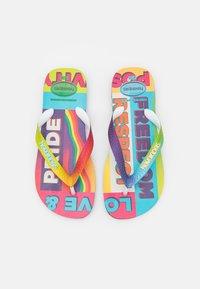 Havaianas - TOP PRIDE RAINBOW UNISEX - T-bar sandals - black - 0