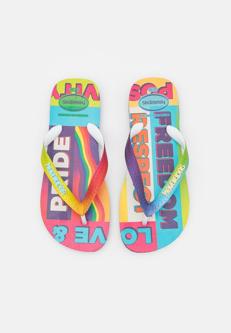 Havaianas - TOP PRIDE RAINBOW UNISEX - T-bar sandals - black