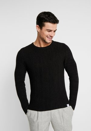 ONSSATO  - Stickad tröja - black melange