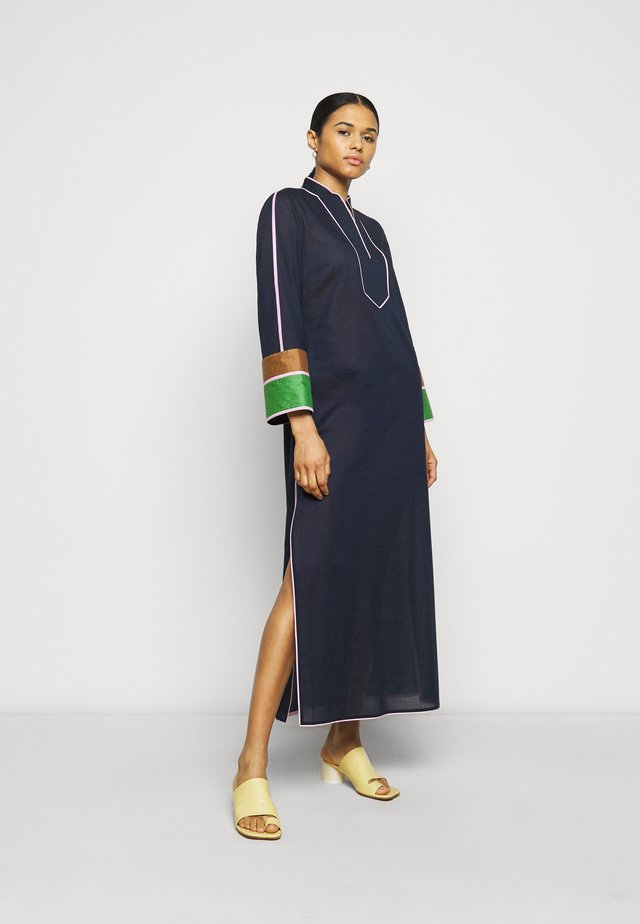 COLOR BLOCKED LONG CAFTAN - Maxi-jurk - navy