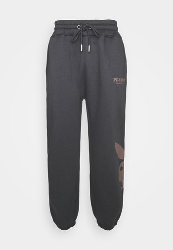 PLAYBOY UNISEX - Tracksuit bottoms - brown