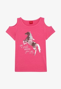 s.Oliver - Print T-shirt - pink - 2