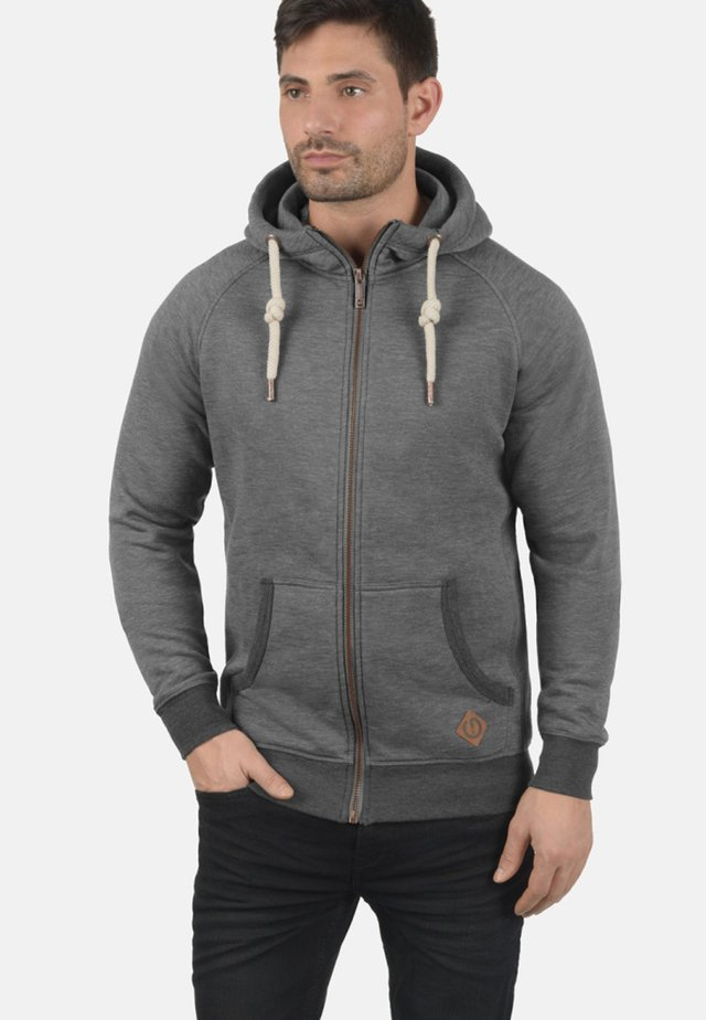 VITU - veste en sweat zippée - grey melange