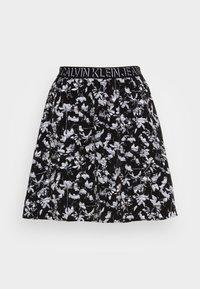 Calvin Klein Jeans - LOGO WAISTBANDSKIRT - Mini skirt - black floral aop - 3