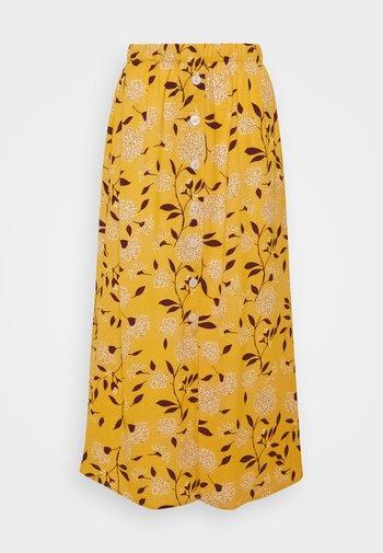 ONLNOVA LUX BUTTON SKIRT - A-line skjørt - golden yellow/white